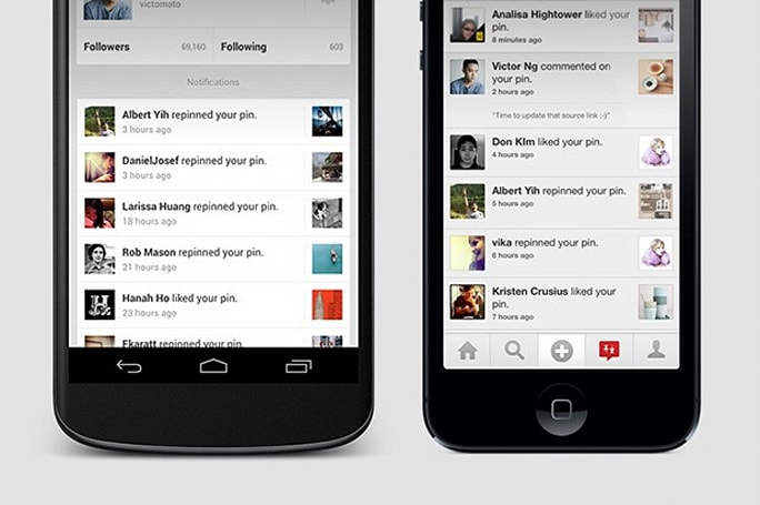 Pinterest adds notifications, search suggestions to Android and iOS apps