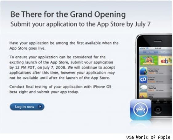 iPhone app submission deadline: July 7th