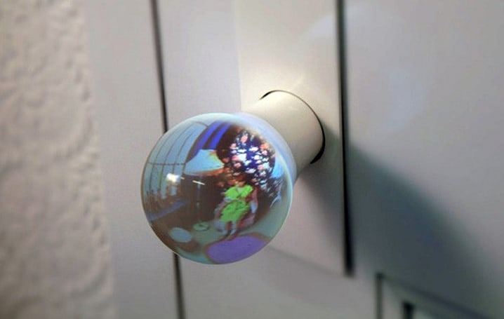 Glass globe doorknob gives you a view of what lies beyond... the door