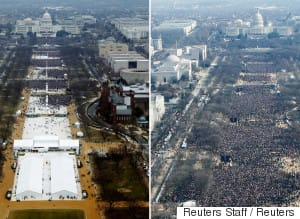 Donald Trump Inauguration Photos Show Crowds Were Smaller Than Obama's