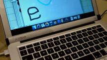 MacBook Airをタッチ対応にする「AirBar」、CES2017で発表。画面下部に貼る赤外線センサー