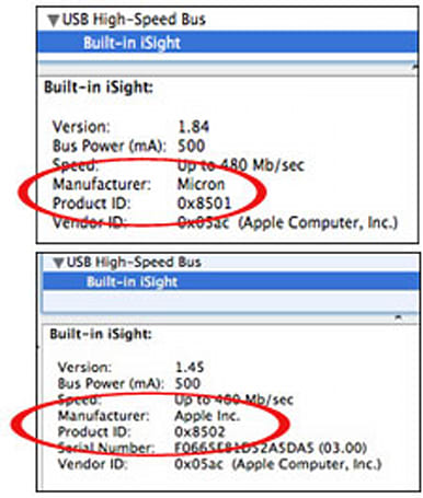 Apple slides 1.3-megapixel iSight into new MacBook Pro