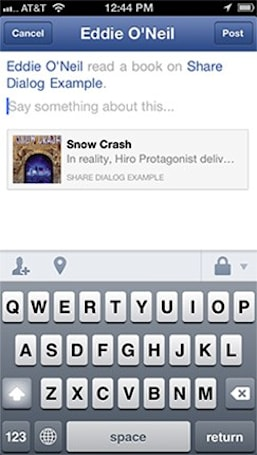 Facebook's native Share Dialog for iOS exits beta, now ready for developers