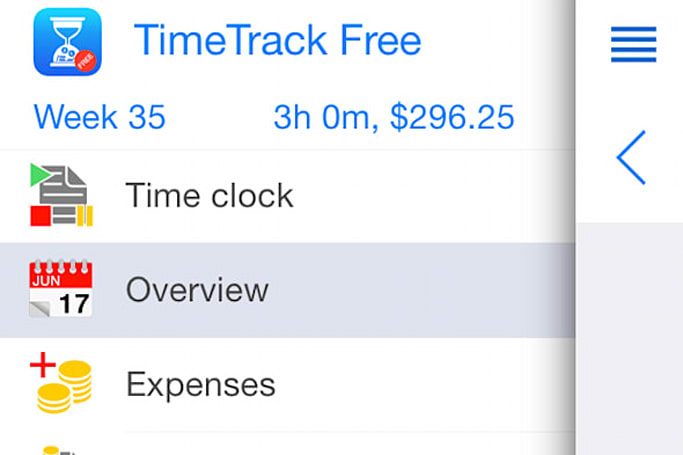 TimeTrack Free tracks time and handles invoices