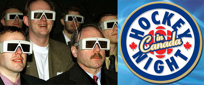 Hockey Night in Canada will go 3D for two games this winter