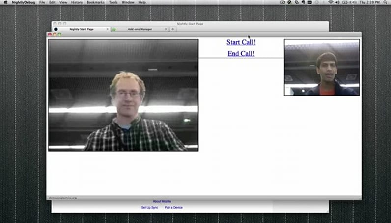 Mozilla demos WebRTC integration, browser-powered video chat (video)