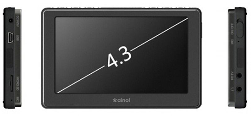 Ainol serves up 4.3-inch V6000HDB portable media player