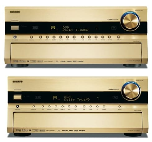 Onkyo insists gold is the new black, releases TX-NA906X, TX-SA806X receivers from its vault