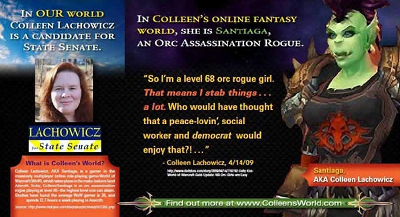 "Maine's ""World of Warcraft"" candidate Colleen Lachowicz appears to win State Senate seat"