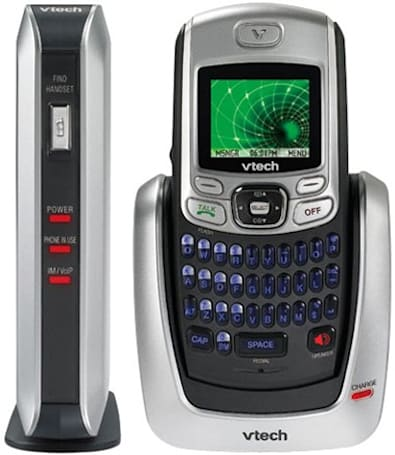 Vtech's IS6110 cordless phone touts QWERTY keypad, IM capability