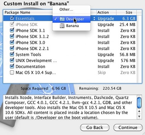 Xcode 101: Installing the 3.2 SDK alongside the 3.1.1 SDK