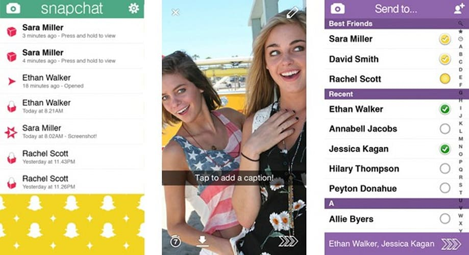 Snapchat has passed about a dozen unopened messages to law