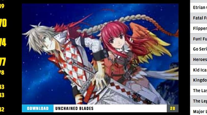 'Unchained Blades' coming to 3DS eShop via XSEED
