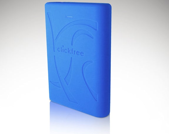 Clickfree C2 Rugged hard drive can fall down, backup