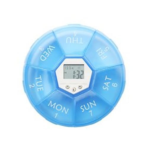 Digital Time Display 7-Day Travel Pill Box