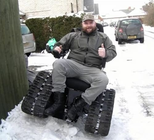 TankChair deemed too heavy to use on UK streets, disabled man becomes marketing boon (video)