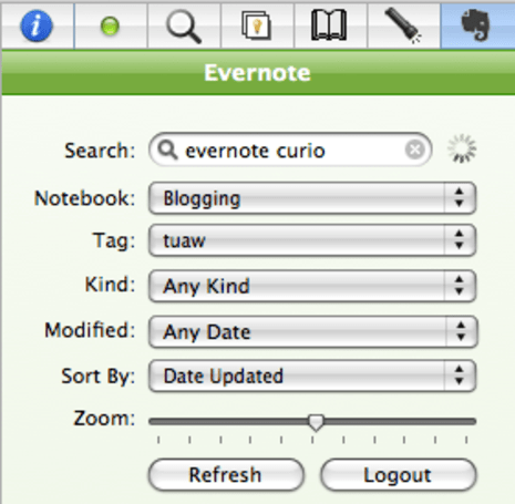 Evernote meets Curio, you save some money