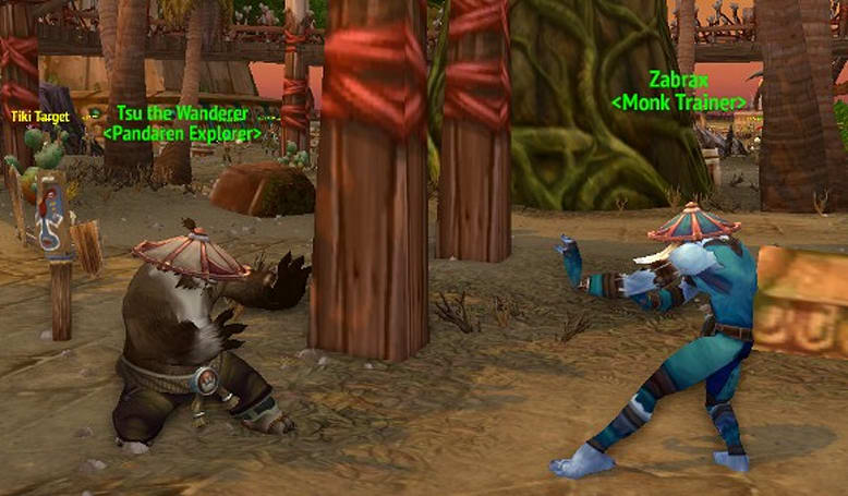 Pandaren and Monk Trainers appear in starting zones