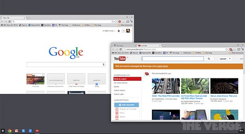 Google testing Chrome OS-like browser interface for Windows 8