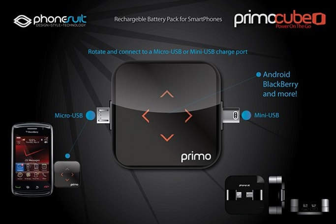 Primo Battery Cube brings extra life to mini or micro-USB devices, is not actually a cube
