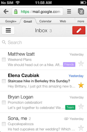Google brings iOS Gmail app's interface to the mobile web and Gmail Offline