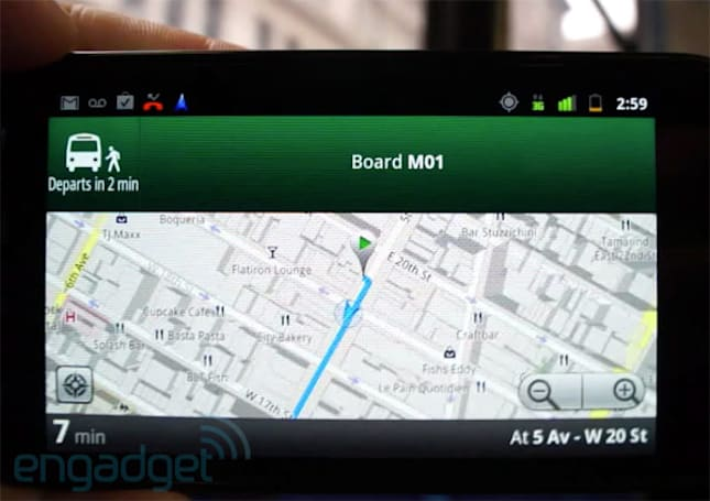 Google Maps Transit Navigation beta for Android hands-on (video)