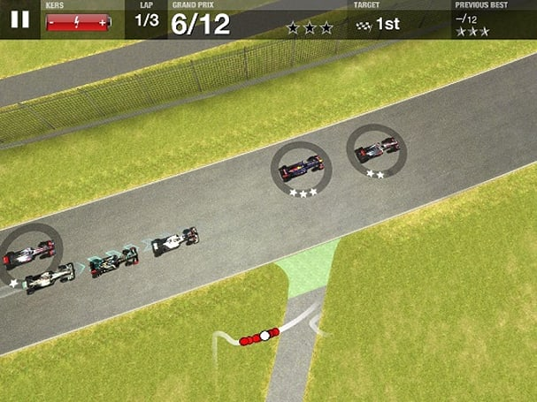 F1 Challenge races to iOS