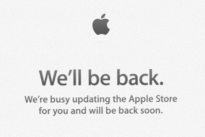 The Apple Store is down, down, down!