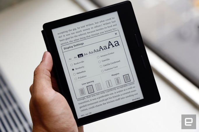 Amazon's high-end Kindle Oasis is sleek, sharp and pricey
