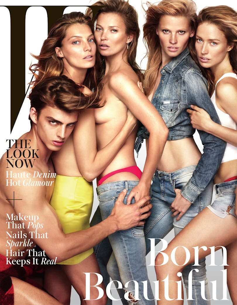 Kate Moss is topless on the cover of W Mag