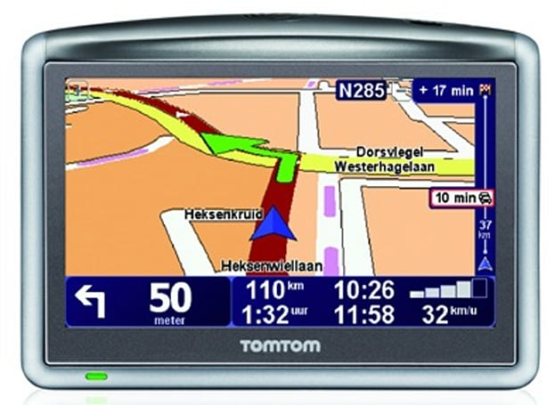 "TomTom's ONE XL HD Traffic GPS navigator with ""world's most advanced traffic information"""