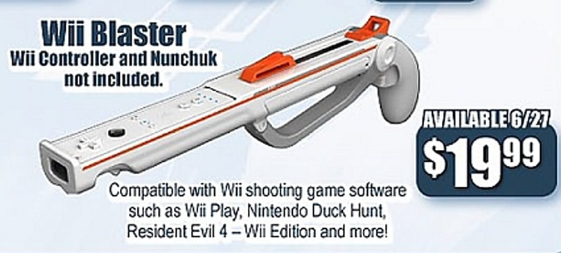 GameStop: Wii Blaster due on June 27