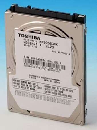 Toshiba's 500GB laptop drive is ready for the Christmas ball