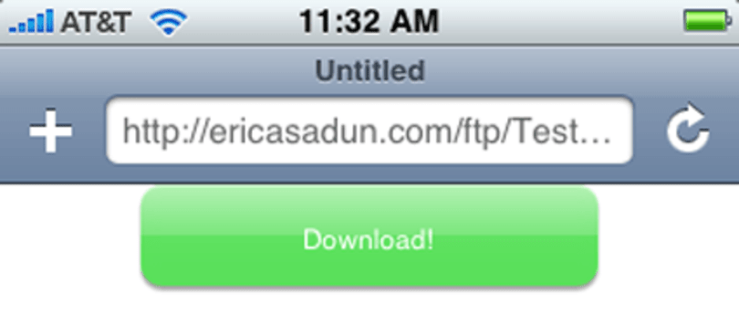 Mobile Safari plug-in downloads files to your iPhone/iPod touch