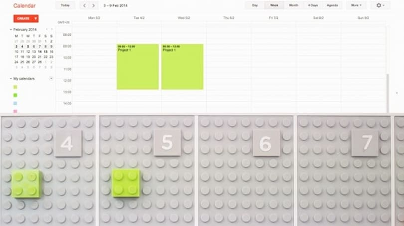 Lego calendar uses bricks to organize your office, makes productivity adorable