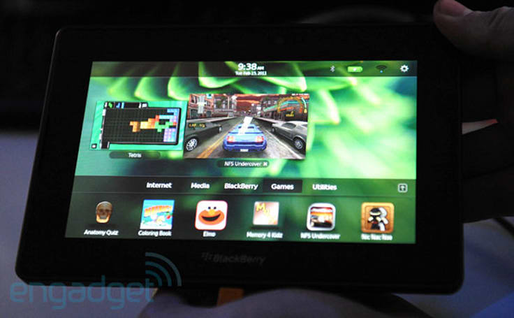 BlackBerry PlayBook to ship with full versions of Tetris and Need For Speed: Undercover (video)