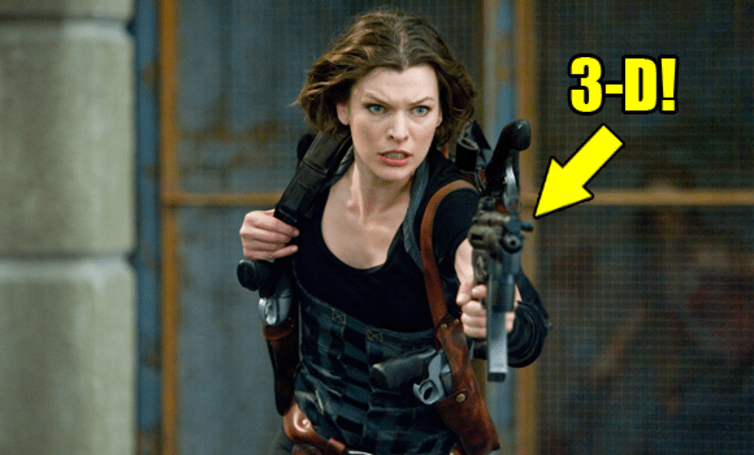 First 'Resident Evil: Afterlife 3D' stills are 2D, compensate with Mila Jovovich