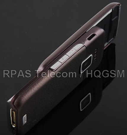 Nokia E65 all gussied up in black and brown