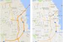 新版 Google Maps 更簡潔,也讓新的「感興趣的區域」更為明顯