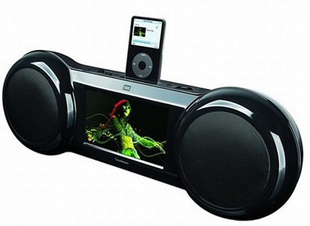 Goodmans iPod boombox includes 7-inch LCD display