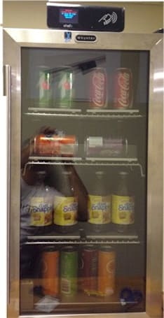 ShelfX's Vending Fridge nixes the cashier, uses QR codes, RFID to 'know what you took'