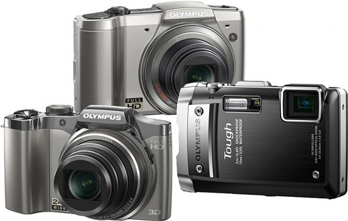 Olympus SZ-30MR shoots 1080p video and 16MP stills simultaneously; Tough TG-810 is 'crushproof'