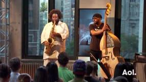 Kamasi Washington and Miles Mosley Perform LIVE on AOL BUILD