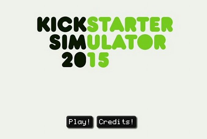 Kickstarter Simulator 2015 is a brief adventure from Frog Fractions dev