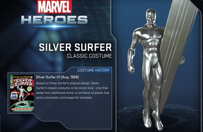 Silver Surfer hangs ten into Marvel Heroes