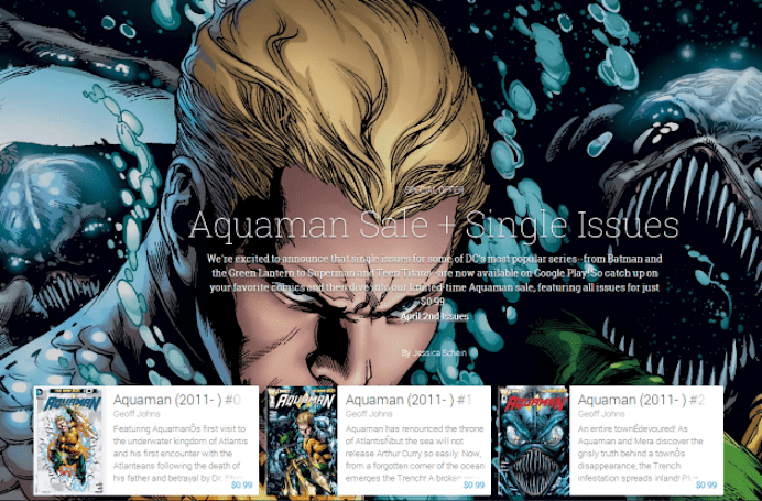 Comic Book Wednesdays come to Google Play with single issues from DC