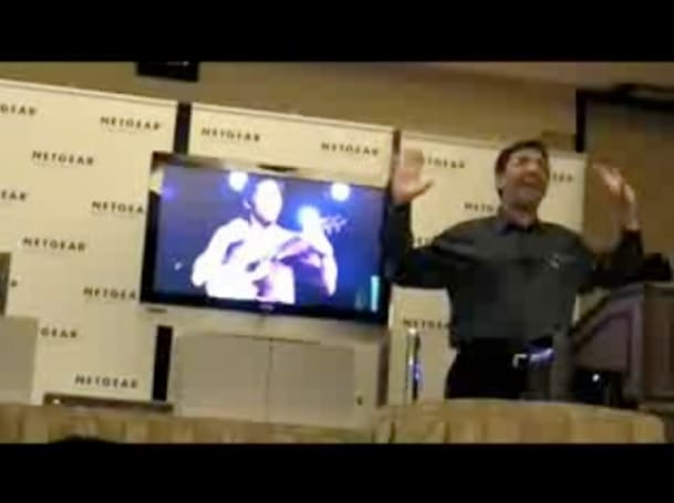 Cheering, cringing at Netgear press conference
