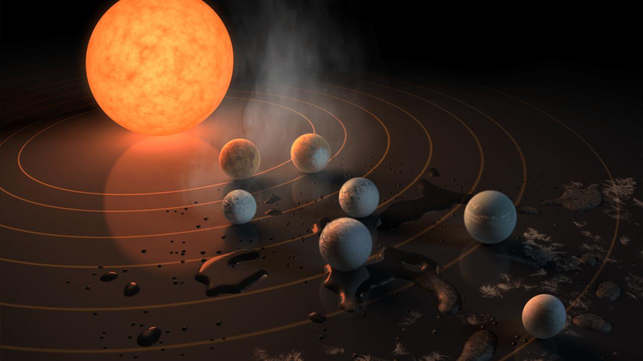 NASA、7つの地球型惑星を発見。すべてに水が存在の可能性、水瓶座の方向40光年の赤色矮星TRAPPIST-1を周回