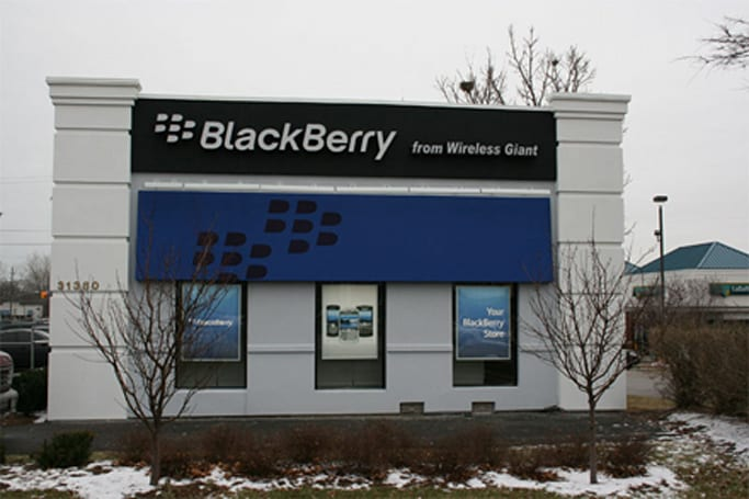 "First ""authorized"" BlackBerry store opens, looks a little sad"