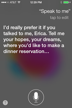 Talking to Siri: The conversationalist